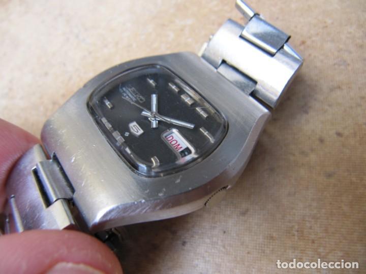 Relojes de pulsera: ANTIGUO RELOJ AUTOMÁTICO SEIKO 5 MODELO 6119 - 5413. 21 RUBIS - Foto 8 - 201958271