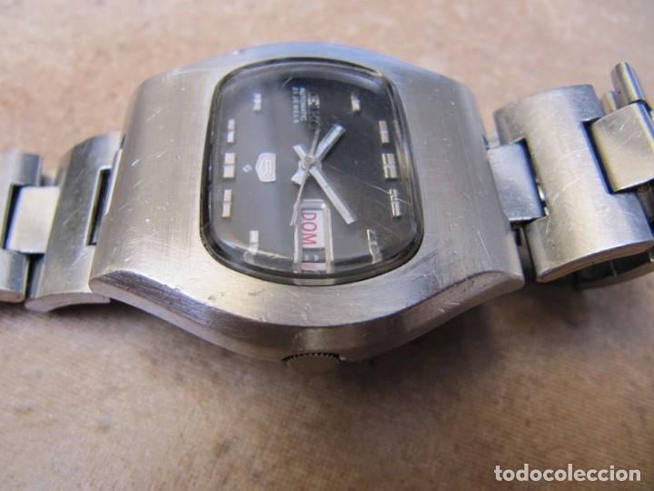 Relojes de pulsera: ANTIGUO RELOJ AUTOMÁTICO SEIKO 5 MODELO 6119 - 5413. 21 RUBIS - Foto 9 - 201958271