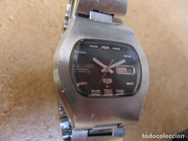 Relojes de pulsera: ANTIGUO RELOJ AUTOMÁTICO SEIKO 5 MODELO 6119 - 5413. 21 RUBIS - Foto 10 - 201958271