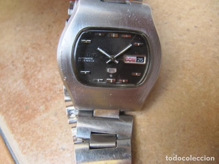 Relojes de pulsera: ANTIGUO RELOJ AUTOMÁTICO SEIKO 5 MODELO 6119 - 5413. 21 RUBIS - Foto 11 - 201958271