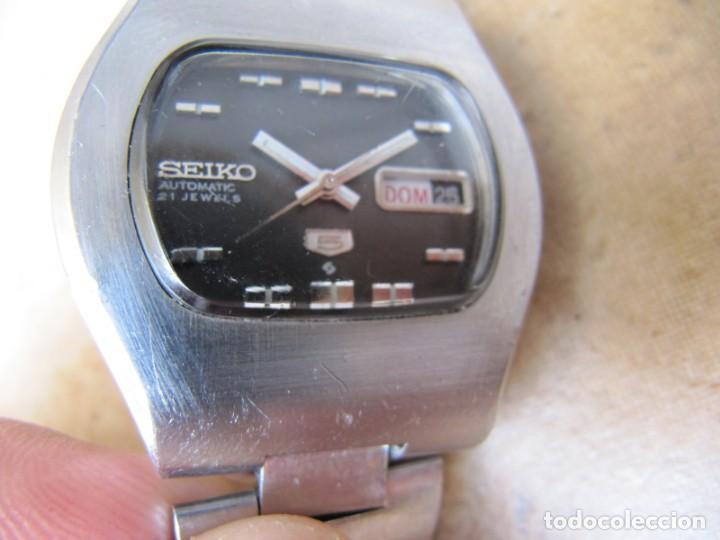 Relojes de pulsera: ANTIGUO RELOJ AUTOMÁTICO SEIKO 5 MODELO 6119 - 5413. 21 RUBIS - Foto 15 - 201958271