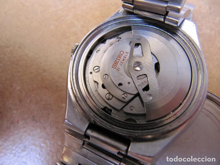 Relojes de pulsera: ANTIGUO RELOJ AUTOMÁTICO SEIKO 5 MODELO 6119 - 5413. 21 RUBIS - Foto 18 - 201958271
