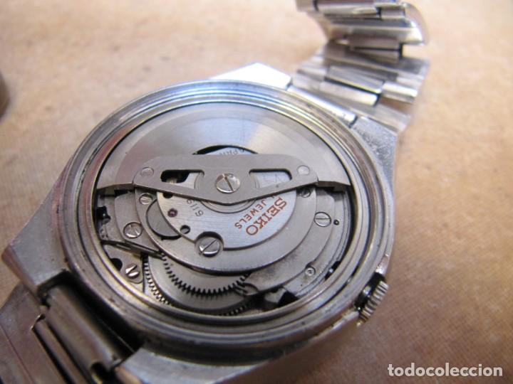 Relojes de pulsera: ANTIGUO RELOJ AUTOMÁTICO SEIKO 5 MODELO 6119 - 5413. 21 RUBIS - Foto 19 - 201958271