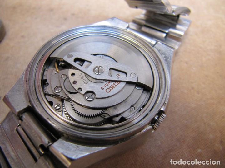 Relojes de pulsera: ANTIGUO RELOJ AUTOMÁTICO SEIKO 5 MODELO 6119 - 5413. 21 RUBIS - Foto 20 - 201958271