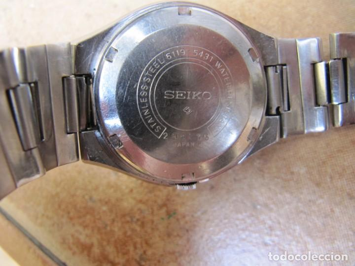 Relojes de pulsera: ANTIGUO RELOJ AUTOMÁTICO SEIKO 5 MODELO 6119 - 5413. 21 RUBIS - Foto 22 - 201958271