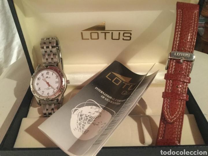 Relojes de pulsera: Reloj Lotus caballero, con cadena y correa de repuesto, cristal del dial mineral - Foto 3 - 203884246