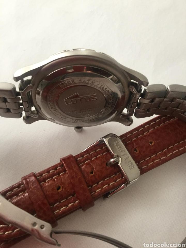Relojes de pulsera: Reloj Lotus caballero, con cadena y correa de repuesto, cristal del dial mineral - Foto 8 - 203884246