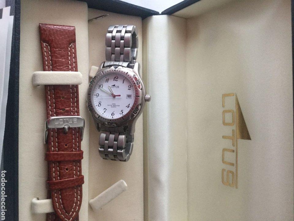 Relojes de pulsera: Reloj Lotus caballero, con cadena y correa de repuesto, cristal del dial mineral - Foto 9 - 203884246
