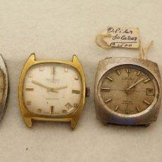 Relojes de pulsera: LOTE DE 4 RELOJES MECANICOS EJE DE VOLANTE BIEN DUWARD CAUNY SAVAR... VER FOTOS R23. Lote 204024001