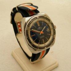Relojes de pulsera: NOBREZA MECANICO TIPO DIVER FUNCIONANDO 39MM. Lote 204056262