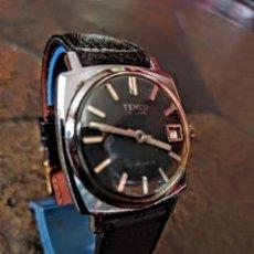 Relógios de pulso: RELOJ TENCO ANTIMAGNETICO CALENDARIO DE CUERDA FUNCIONA PERFECTO. Lote 204545047
