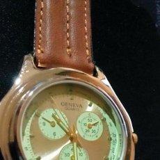Relógios de pulso: RELOJ GENEVA QUARTZ DE HOMBRE. Lote 204625192