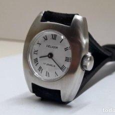 Relojes de pulsera: RELOJ VINTAGE DE SEÑORA MARCA DELKAR AÑOS 70 DE CARGA MANUAL Y NUEVO. Lote 204821111