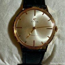 Relojes de pulsera: CYMA CIMAFLEX 34 M/M Ø - CAJA EN ORO DE LEY ,CORREA DE PIEL. Lote 204832111