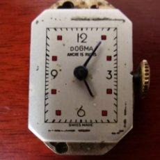 Relojes de pulsera: MAQUINARIA COMPLETA DE ANTIGUO RELOJ DOGMA ANCRE 15 RUBIS. SUIZO. CARGA MANUAL . SEÑORA. PRECIOSA. Lote 205131457