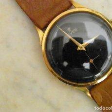 Relojes de pulsera: RELOJ HEVER CARGA MANUAL CAJ ORO 18 KILATES. Lote 205393662
