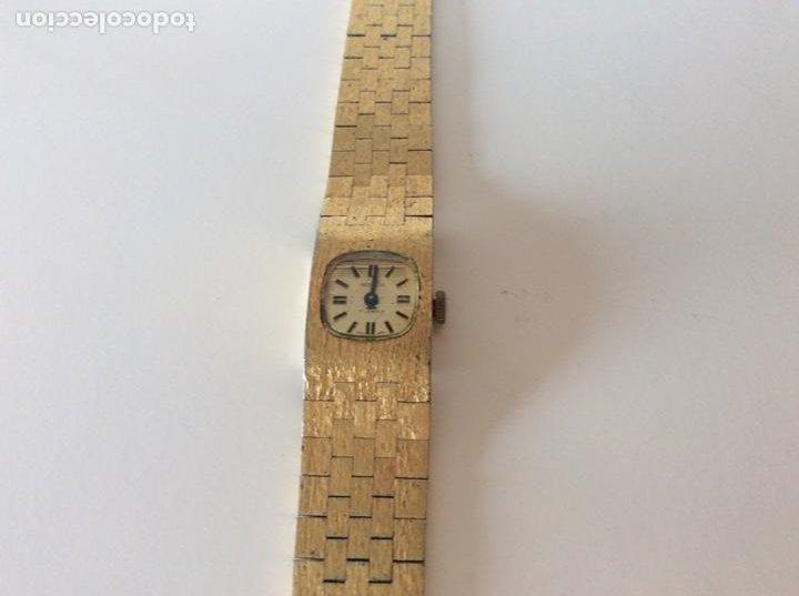 RELOJ ANTIGUO DORADO NO FUNCIONA (Relojes - Pulsera Carga Manual)