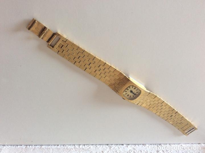 Relojes de pulsera: Reloj antiguo dorado no funciona - Foto 2 - 205574555