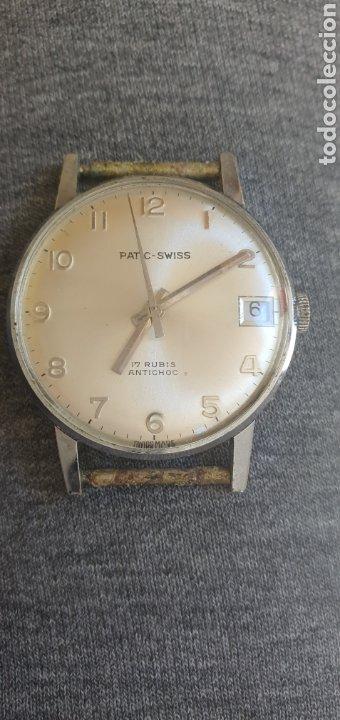 RELOJ PATIC -SWISS AÑOS 60 CARGA MANUAL FUNCIONA Y PARA . MIDE 30MM DIAMETRO (Relojes - Pulsera Carga Manual)