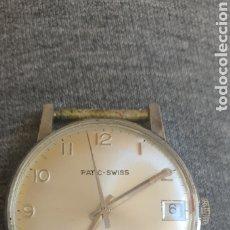 Relojes de pulsera: RELOJ PATIC -SWISS AÑOS 60 CARGA MANUAL FUNCIONA Y PARA . MIDE 30MM DIAMETRO. Lote 206131917