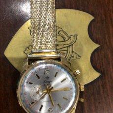 Relojes de pulsera: RELOG MARCA LINGS TIPO CRONO STOP MODELO 21 PRINX PARADA DE CARGA FUNCIONA. Lote 206175720
