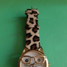 Relojes de pulsera: RELOJ GATO ANIMAL PRINT. Lote 206248646