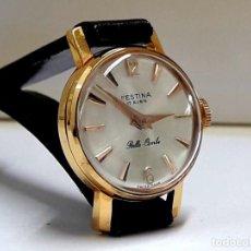 Relojes de pulsera: PEQUEÑO RELOJ VINTAGE FESTINA BELLE COMBE DE SEÑORA AÑOS 50 CARGA MANUAL CALIBRE FHF 34 Y NUEVO. Lote 206268237