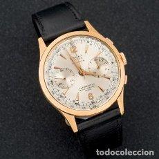 Relojes de pulsera: RELOJ CAUNY, MODELO PRIMA, REALIZADO EN ORO AMARILLO DE 18 K. MOVIMIENTO MECÁNICO MANUAL. CRONÓGRAFO. Lote 206282853