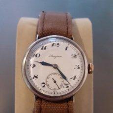 Relojes de pulsera: PRECIOSO RELOJ DE TRINCHERAS LONGINES DE PLATA, DÉCADA DE 1920. Lote 206292127