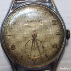 Relojes de pulsera: RELOJ CABALLERO LANCO DE LUXE 17 RUBIS ESFERA TEXTURADA FUNCIONANDO PERO HAY QUE REPASAR. Lote 206394415
