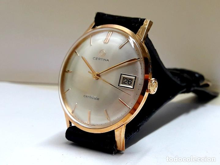 Relojes de pulsera: RELOJ CERTINA MODELO CERTIDATE EN ORO DE LEY AÑOS 60 CARGA MANUAL CALIBRE 25-661 Y NUEVO A ESTRENAR - Foto 3 - 178183147