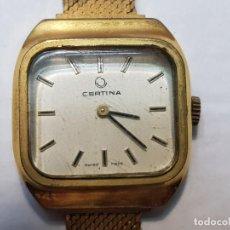 Relojes de pulsera: RELOJ CERTINA DE CUERDA CHAPADO ORO TOTALMENTE ORIGINAL. Lote 208593307