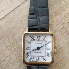 Relojes de pulsera: RELOJ DE MUJER MARCA: DUWARD. MODELO: DIPLOMATIC CHAPADO EN ORO DE DE 10 KILATES.. Lote 208741120