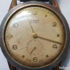 Relojes de pulsera: RELOJ CUERDA GADIR 15 RUBIS CABALLERO FUNCIONANDO ESCASO. Lote 208901661