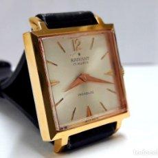 Relojes de pulsera: RELOJ VINTAGE DE SEÑORA RADIANT CUADRADO DE CARGA MANUAL CALIBRE PESEUX 320. Lote 209137386