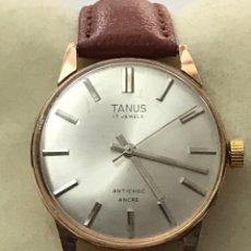 Relógios de pulso: RELOJ TANUS 17 JEWELS CARGA MANUAL CHAPADO DE ORO CABALLEROS. Lote 209349215