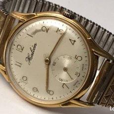 Relógios de pulso: RELOJ HALCÓN CARGA MANUAL CHAPADO DE ORO CABALLEROS VINTAGE. Lote 209416430