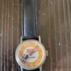 Relojes de pulsera: RELOJ MICKEY MOUSE DE CUERDA RARO !!! BRADLEY TIME DIVISION. Lote 209617386