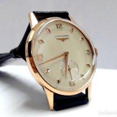 Relógios de pulso: GRAN RELOJ VINTAGE LONGINES AÑOS 50 EN ORO DE LEY DE CARGA MANUAL Y NUEVO. Lote 190734832