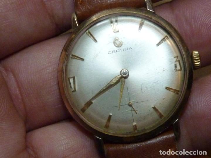 Relojes de pulsera: ELEGANTE RELOJ CERTINA CARGA MANUAL CALIBRE 28-10 SOCIETE SOLVAY & CIE AÑOS 60 - Foto 3 - 209862477