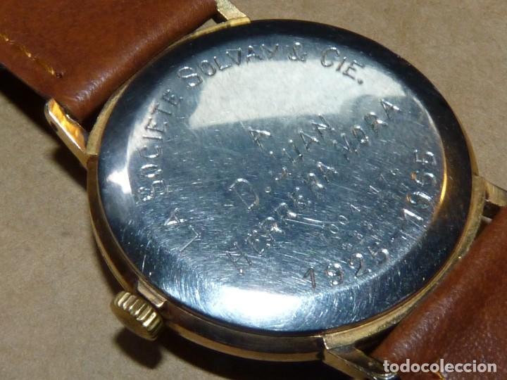 Relojes de pulsera: ELEGANTE RELOJ CERTINA CARGA MANUAL CALIBRE 28-10 SOCIETE SOLVAY & CIE AÑOS 60 - Foto 5 - 209862477
