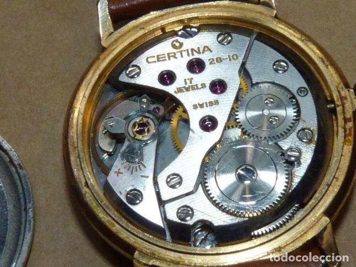 Relojes de pulsera: ELEGANTE RELOJ CERTINA CARGA MANUAL CALIBRE 28-10 SOCIETE SOLVAY & CIE AÑOS 60 - Foto 8 - 209862477