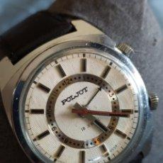 Relógios de pulso: RELOJ MECANICO RUSO ALARMA MANUAL POLJOT SIGNAL. Lote 210217358