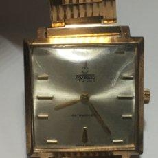 Relógios de pulso: RELOJ TORMAS CARGA MANUAL CAJA CHAPADA ORO VINTAGE EN FUNCIONAMIENTO. Lote 210229418