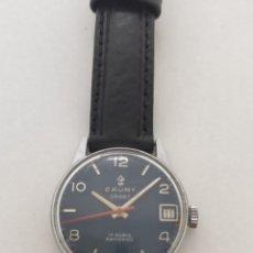 Relógios de pulso: RELOJ CAUNY A CUERDA CADETE.17 RUBIS ANTICHOC. FUNCIONANDO.. Lote 210249638
