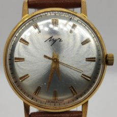 Relojes de pulsera: RELOJ RUSO LUCH URSS- ORO CHAPADO AU 10+ / 23 RUBÍES / COMO NUEVO. Lote 210537742