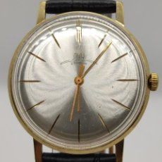 Relojes de pulsera: RELOJ RUSO LUCH EXTRA FINO - URSS - ORO CHAPADO AU 10 / 23 RUBÍES COMO NUEVO. Lote 210537953