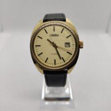 Relojes de pulsera: RELOJ RUSO SLAVA URSS- ORO CHAPADO AU 5 / 21 RUBÍES / DIAS DEL MES. Lote 210541557