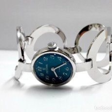 Relojes de pulsera: RELOJ VINTAGE DE SEÑORA FESTINA EN PLATA DE LEY AÑOS 60 DE CUERDA MANUAL Y NUEVO. Lote 210585955