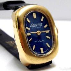 Relojes de pulsera: BELLO RELOJ VINTAGE DE SEÑORA MARCA EXACTUS DE CARGA MANUAL Y NUEVO A ESTRENAR. Lote 210688355
